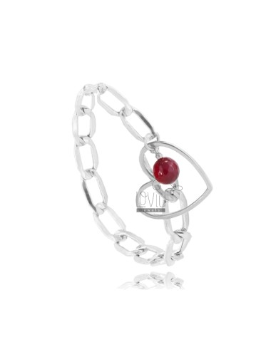 Chain bracelet with heart...