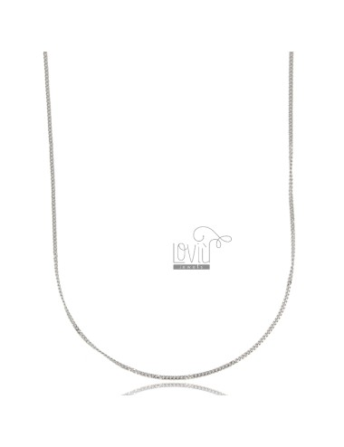 Curb-kette aus stahl 90 cm