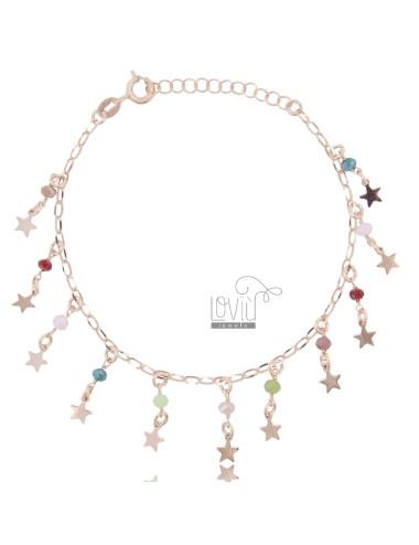 Rolo bracelet 'with stars...
