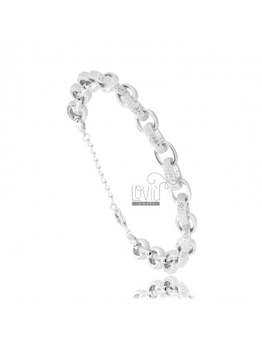 Cable bracelet in silver...