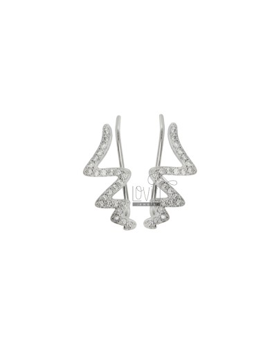 Ear cuff snake earrings in...