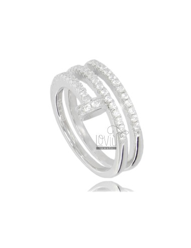 NAIL RING IN RHODIUM-PLATED...