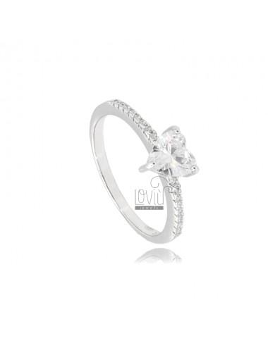Heart ring in silver...