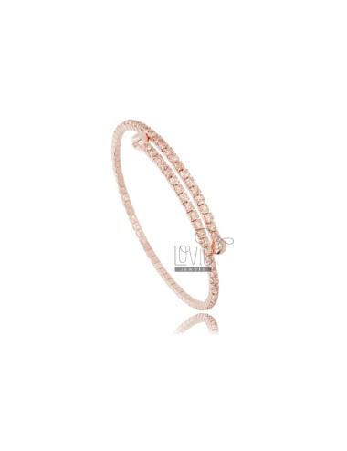 Rigid tennis bracelet with...