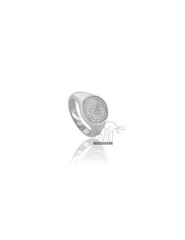 OVAL CHEVALIER RING IN...
