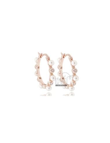 Hoop earrings mm 13 in rose...