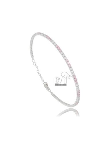 Tennis bracelet with white...