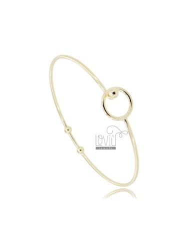Rigid circle bracelet with...