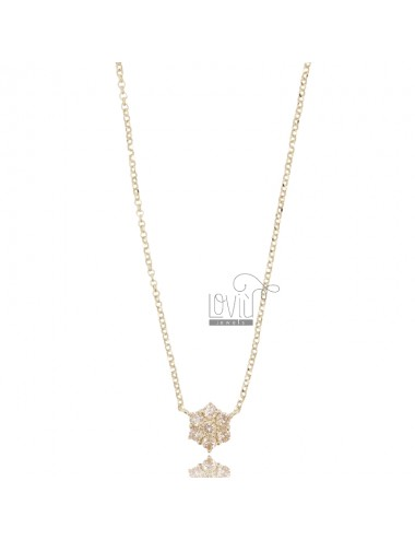 Rolo necklace with central...
