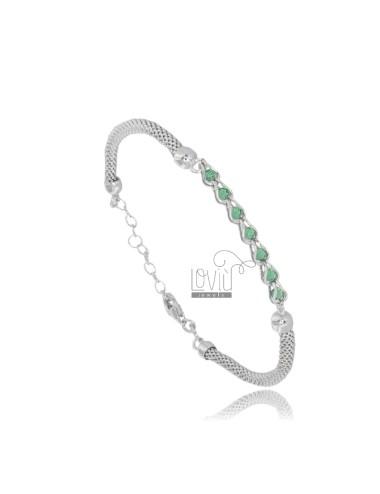 Pop mais armband mit grünen...
