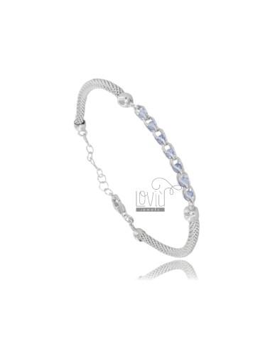 Pop corn bracelet with blue...