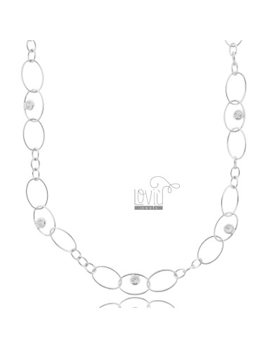 Oval necklace with zircons...