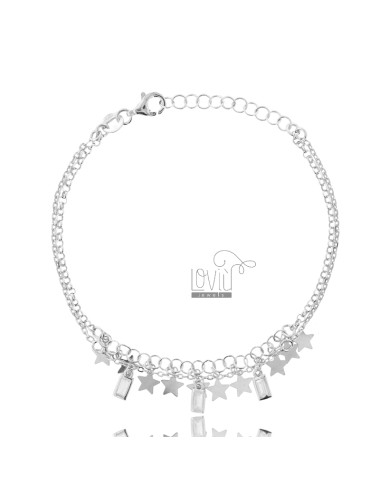 Rolo bracelet with stars...
