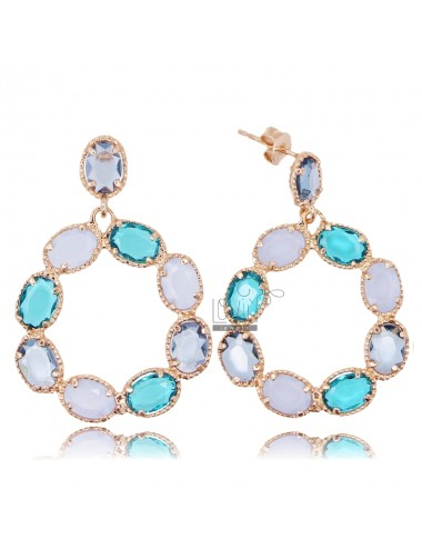 Round pendant earrings with...