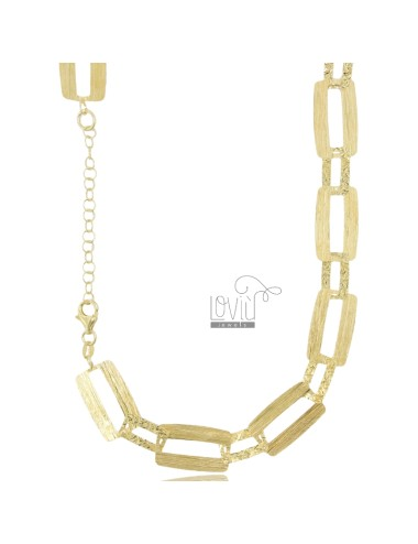 Laser cut chain necklace in...