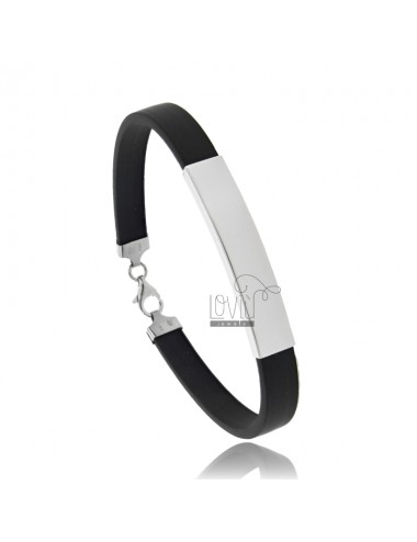 RUBBER BRACELET WITH PLATE...