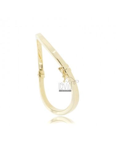 Rigid bracelet with square...
