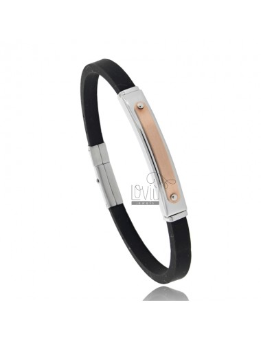 Bracelet with steel and...