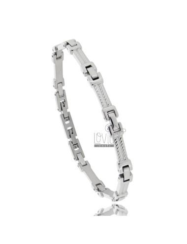 Stainless steel bracelet cm 21