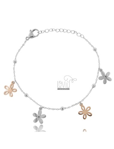 BRACELET WITH FLOWERS IN...