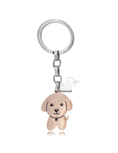 Key ring with dog in...
