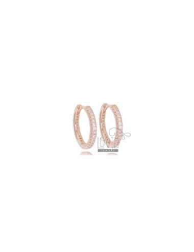 Hoop earrings mm 10 in rose...