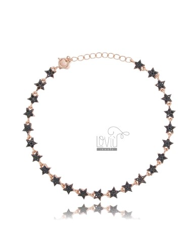 Bracelet with stars in rose...