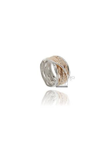 BICOLOR RING IN SILBER...