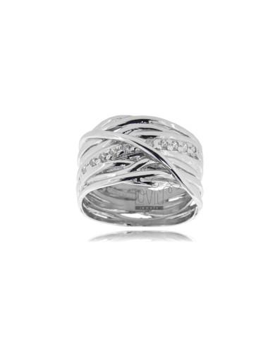 Ring intrecci in silver...