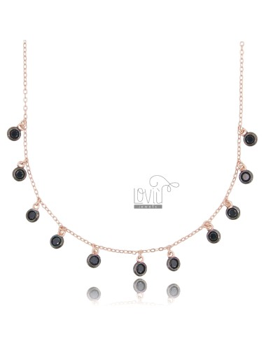 Cable necklace with black...