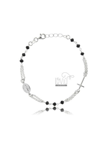 Round rosary bracelet with...
