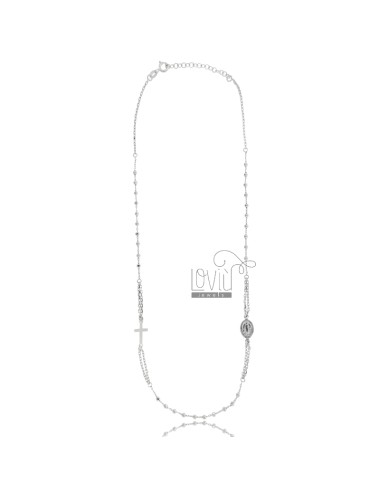 Rosary cable necklace with...