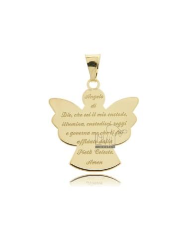 Eco angel pendant with...