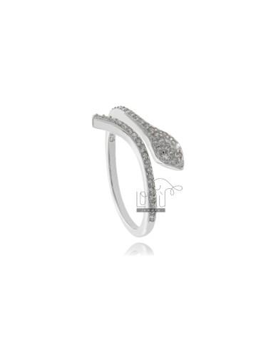 Snake ring in silver...