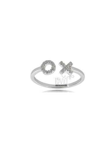 RING MIT X IN SILBER...