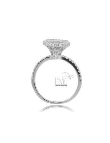 Solitaire ring in silver...