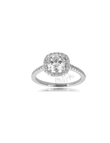 Square solitaire ring in...