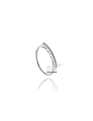 RING BAR IN RHODIUM-PLATED...