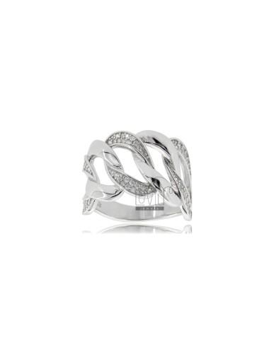 Anello catena in argento...