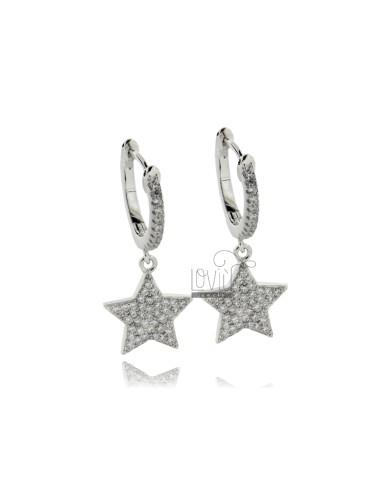 Hoop earrings mm 8 with...