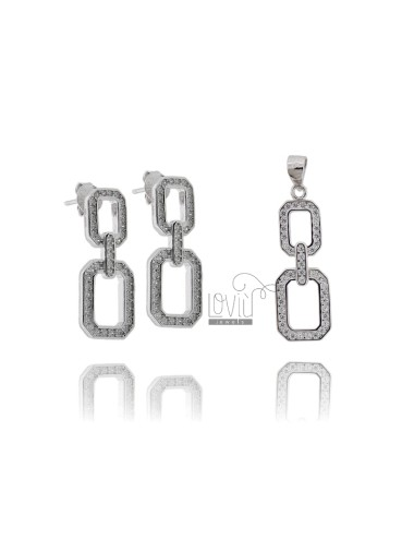 EARRINGS AND CHAIN PENDANT...