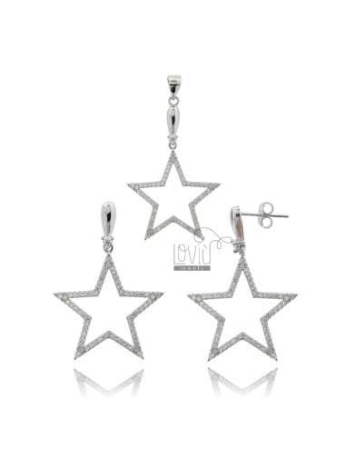 Earrings and star pendant...