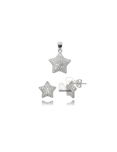 EARRINGS AND STAR PENDANT...