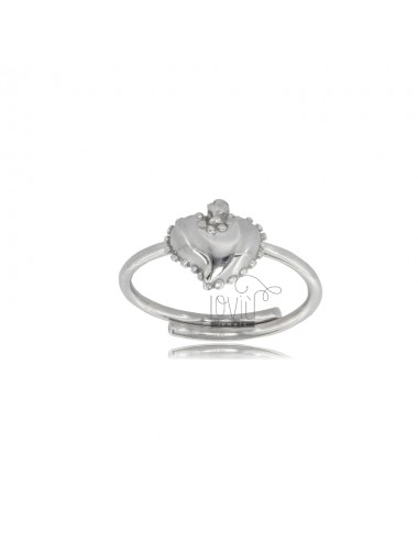 RING WITH SACRED HEART IN...