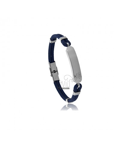 Bracelet with plate and...