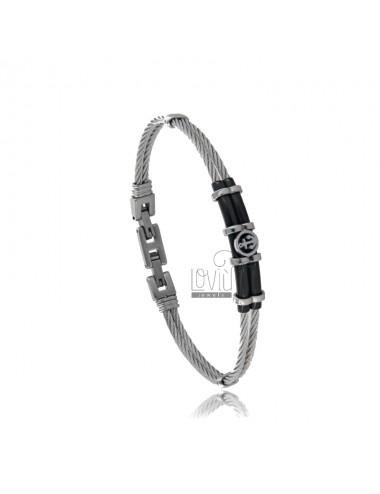 Semi-rigid bracelet with...