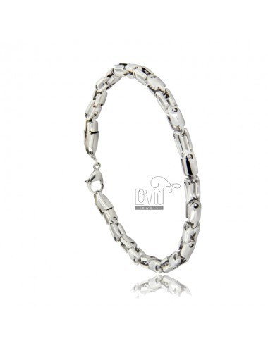 Steel bracelet 21 cm