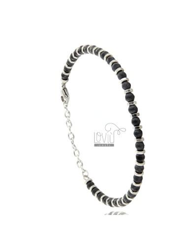 Bracelet in steel and...