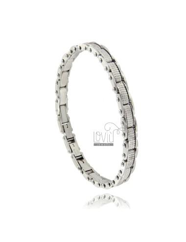 Steel embroidered bracelet...