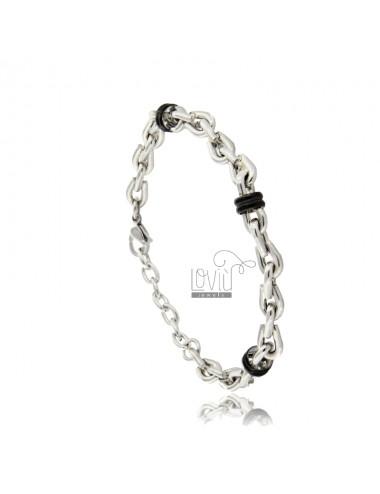 Two-tone steel chain...